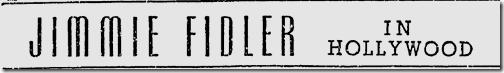 Nov. 9, 1941, Jimmie Fidler