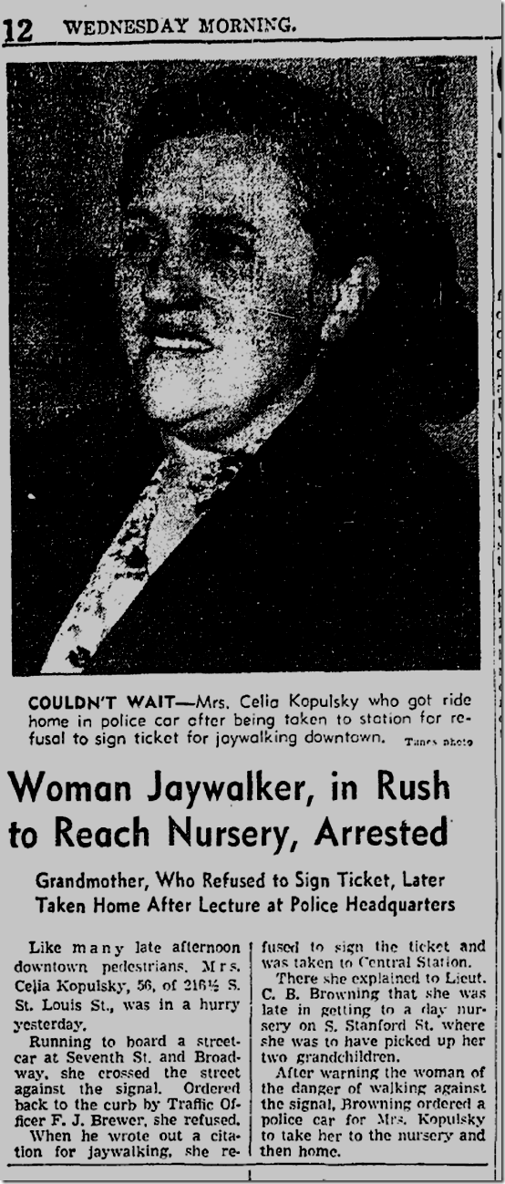 Nov. 12, 1941, Jaywalker
