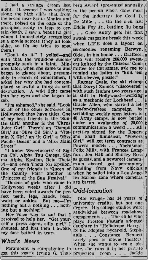 Nov. 12, 1941, Jimmie Fidler