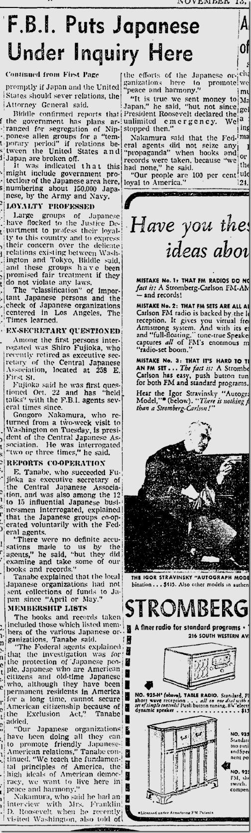 Nov. 13, 1941, Japanese