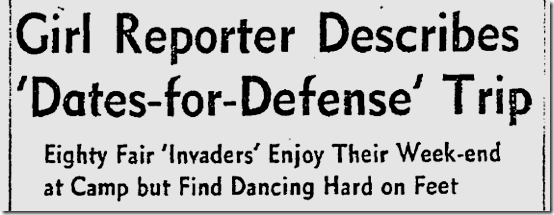 Nov. 17, 1941, Dates for Defense