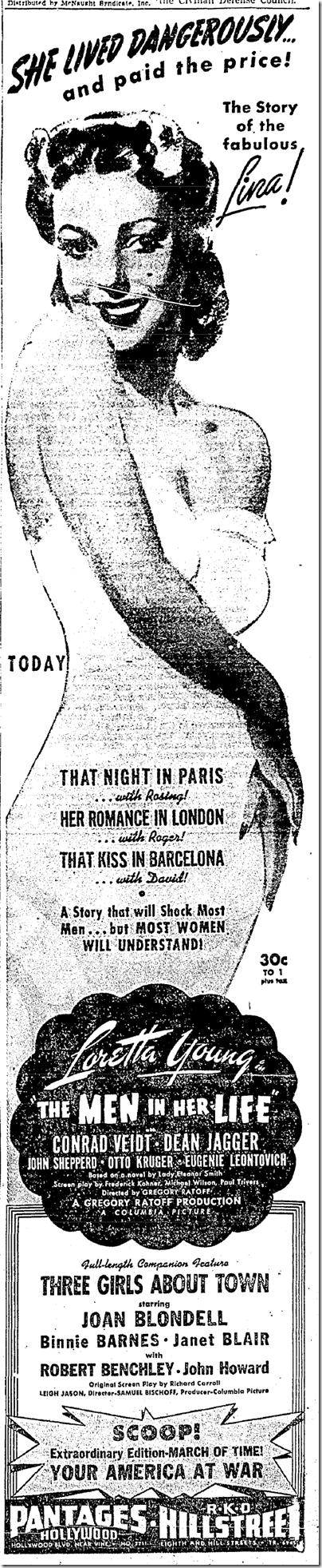Dec. 17. 1941, The Men in Her Life