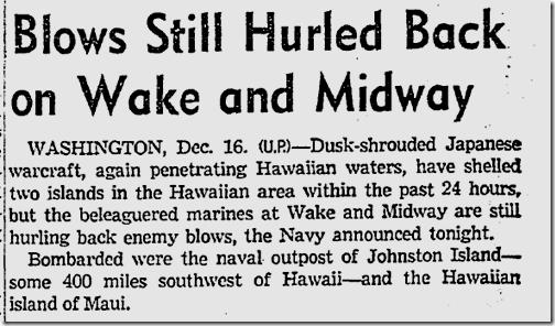 Dec. 17, 1941, Wake Island