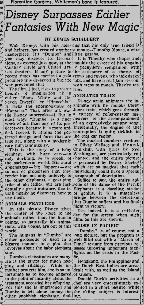 """Dumbo,"" Dec. 20, 1941"