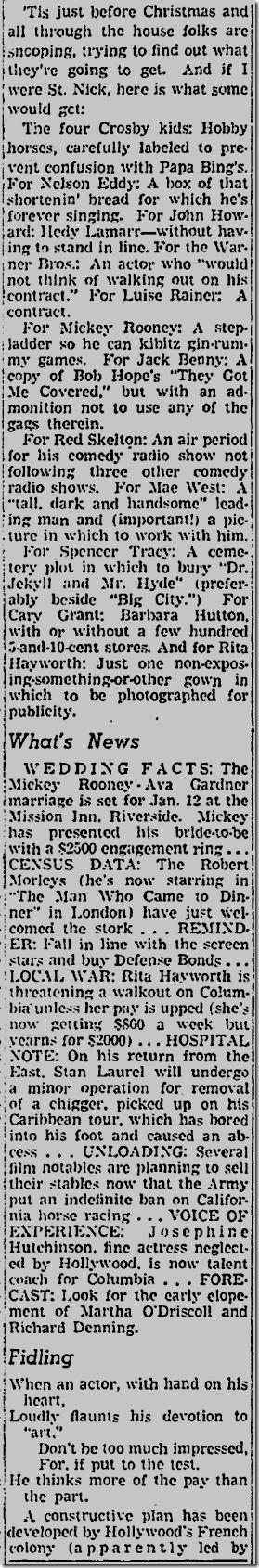 Dec. 19, 1941, Jimmie Fidler