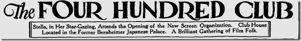 Nov. 1, 1925, Four Hundred Club