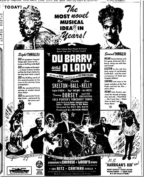 "July 22, 1943, Du Barry Was a Lady"""