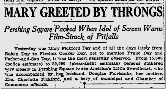 Dec. 4, 1923, Mary Pickford Day