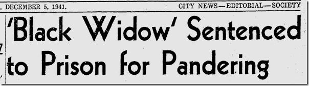 Dec. 5, 1941, Black Widow
