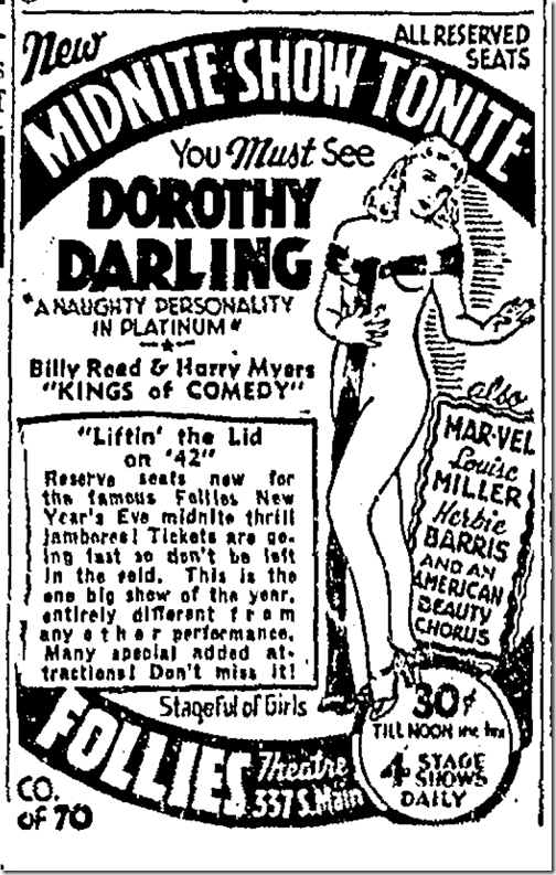 Dec. 27, 1941, Dorothy Darling