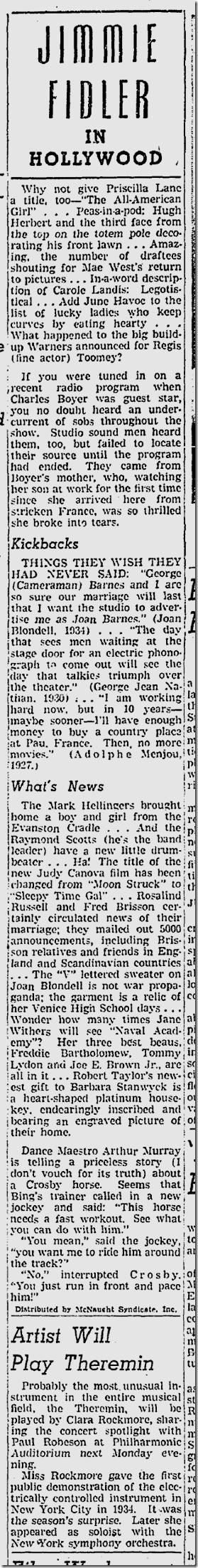 Dec. 5, 1941, Jimmie Fidler