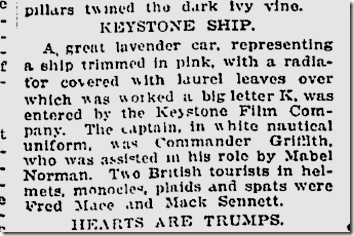 Jan. 2, 1913, Keystone Float