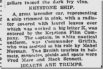 Jan. 2, 1913, Keystone Float