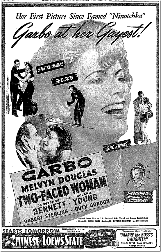 Dec. 3, 1941, Two-Faced Woman