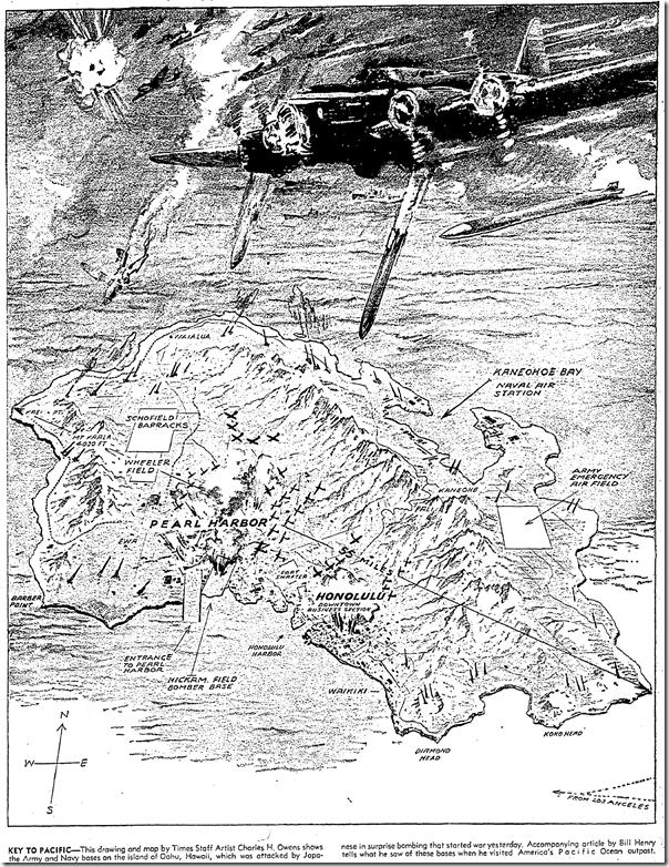 Dec. 8, 1941, Charles Owens map