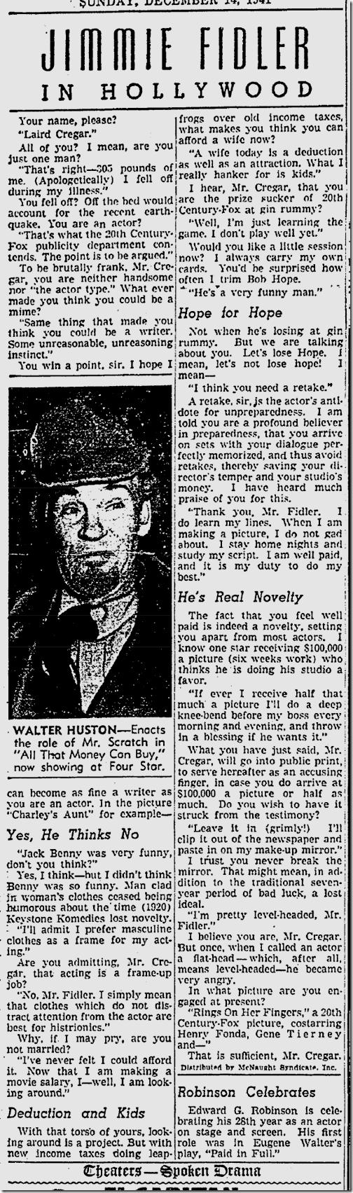 Dec.14, 1941, Jimmie Fidler