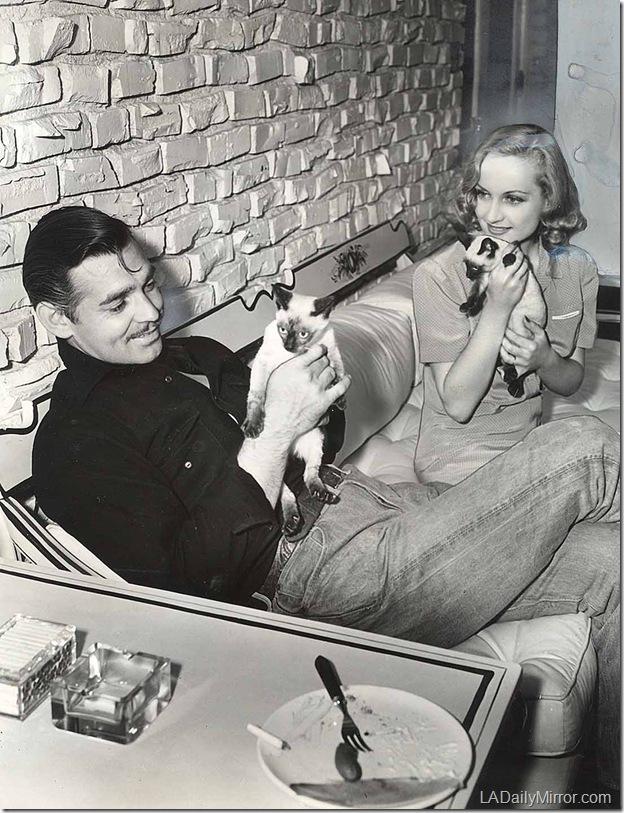 Clark Gable, Carole Lombard, 1940
