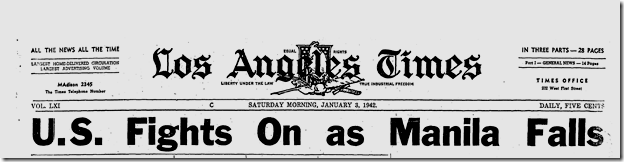 Jan. 3, 1942, Manila Falls!