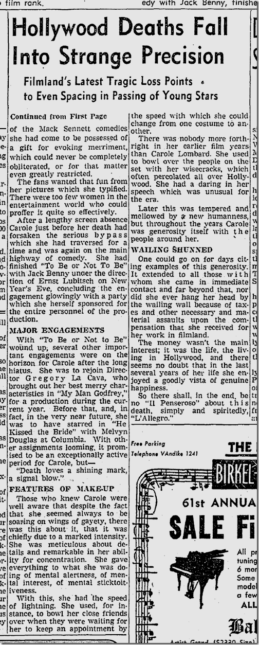 Jan. 18, 1942, Carole Lombard