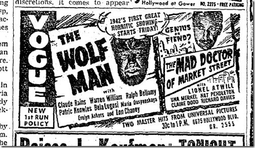 Jan. 21, 1942, Wolf Man