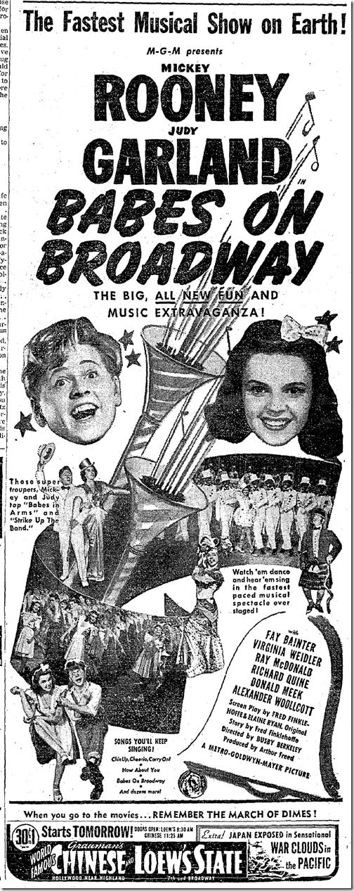 Jan. 21, 1942, Babes on Broadway