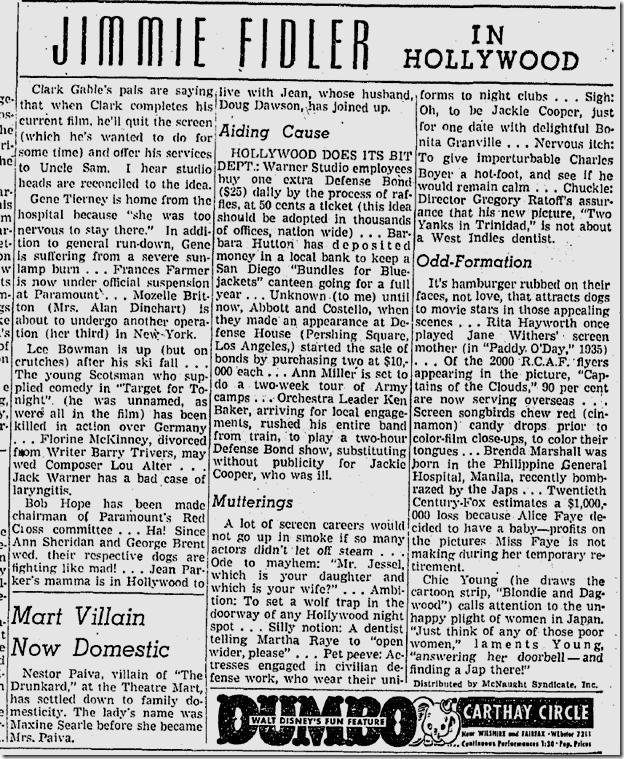 Jan. 22, 1942, Jimmie Fidler