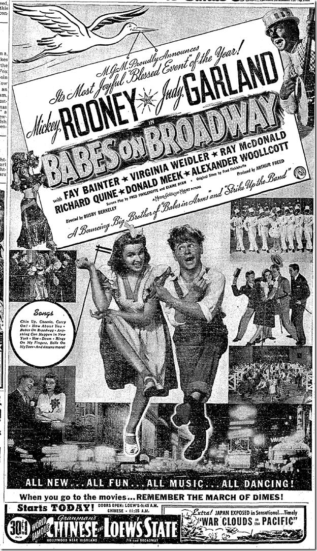 Jan. 22, 1942, Babes on Broadway