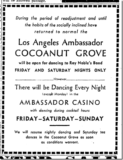 Jan. 4, 1942, Cocoanut Grove