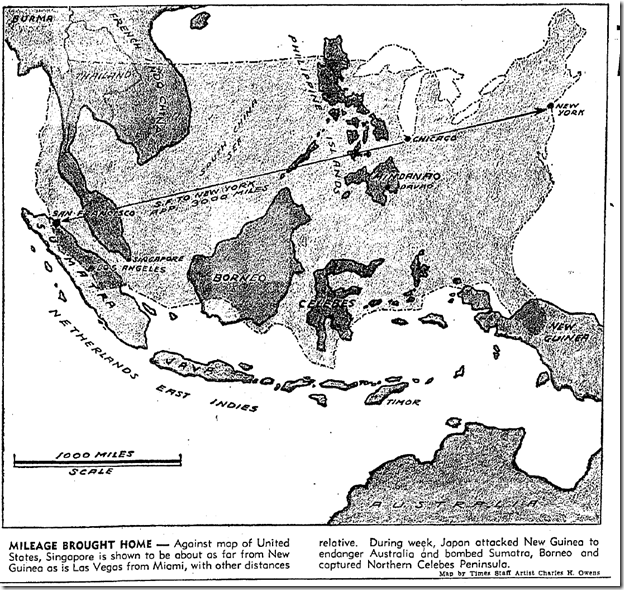 Jan. 25, 1942, War Map