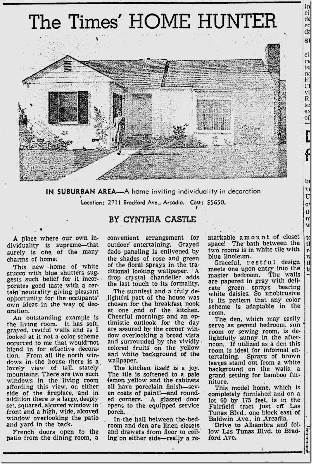 Jan. 25, 1942, Home in Arcadia