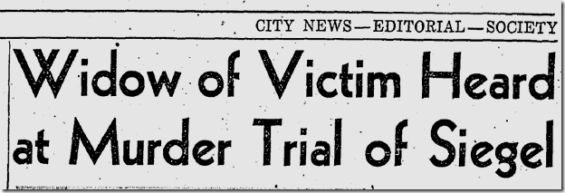 Jan. 27, 1942, Siegel Trial