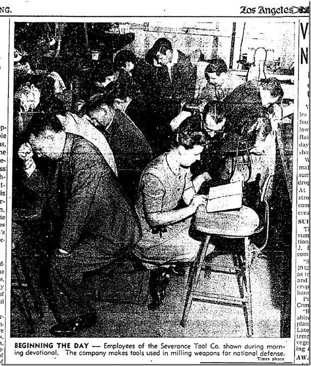 Jan. 4, 1942, Machine Shop Prayers