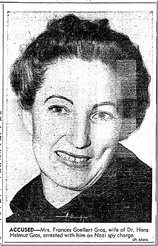 Jan. 29, 1942, Spy Ring