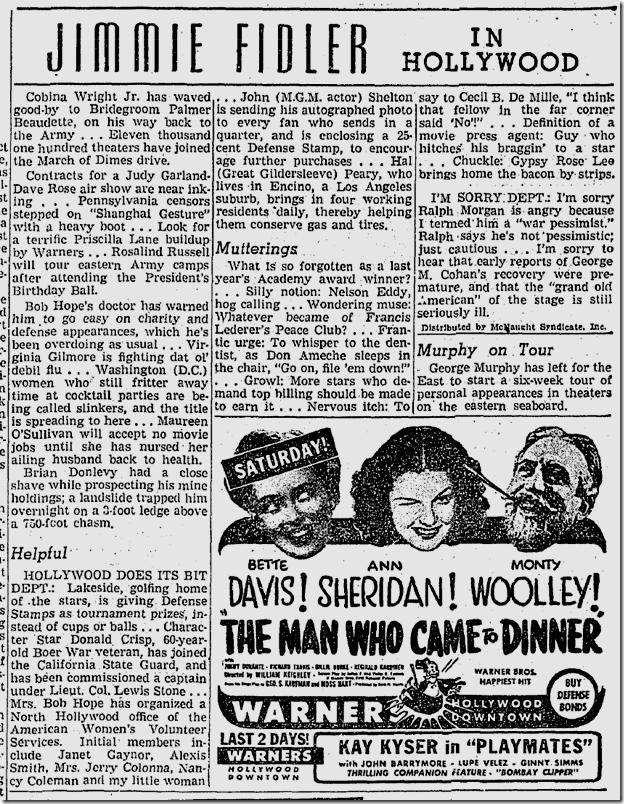 Jan. 29, 1942, Jimmie Fidler