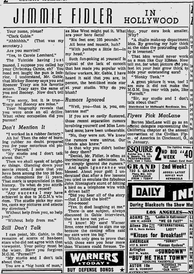 Jan. 4, 1942, Jimmie Fidler