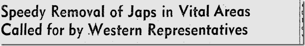 Jan. 31, 1942, Japanese Evacaution