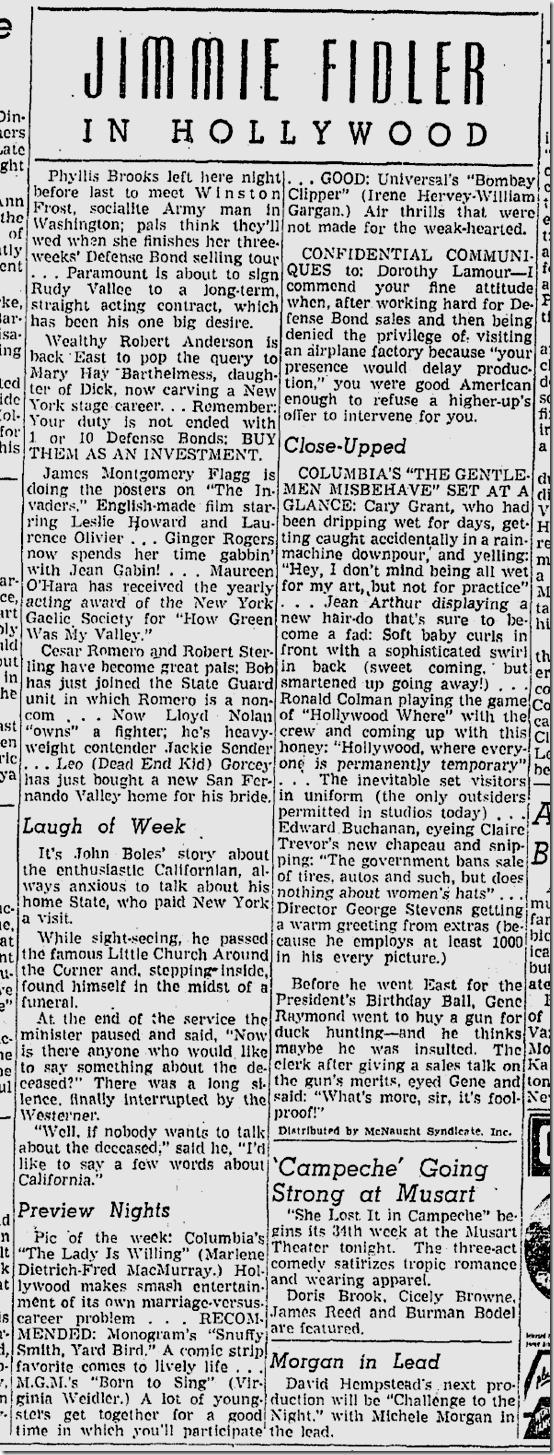 Jan. 31, 1942, Jimmie Fidler