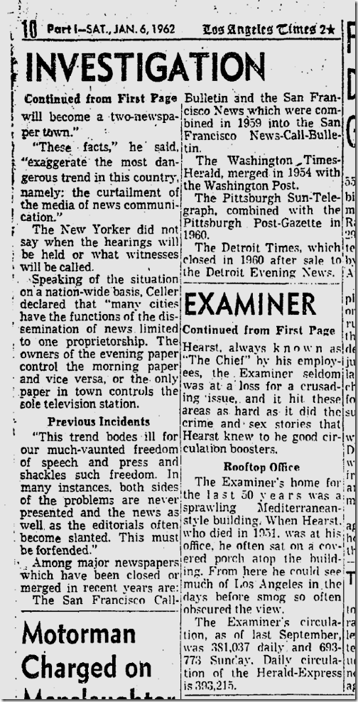 Jan. 6, 1962, Examiner Folds