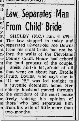 Jan. 7, 1942, Child Bride