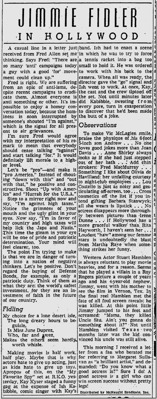 Jan. 7, 1942, Jimmie Fidler