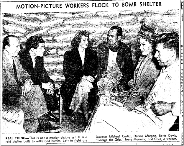 Jan. 3, 1942, Air Raid Shelter