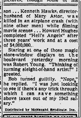 Jan. 3, 1942, Jimmie Fidler