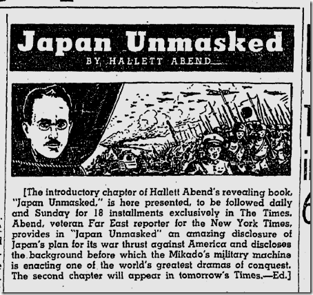 Feb. 1, 1942, Japan Unmasked