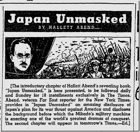 Feb. 1, 1942, Japan Unmasked
