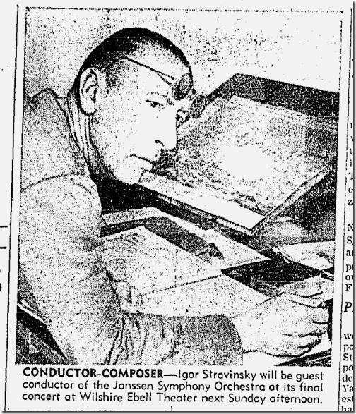 Feb. 1, 1942, Igor Stravinsky