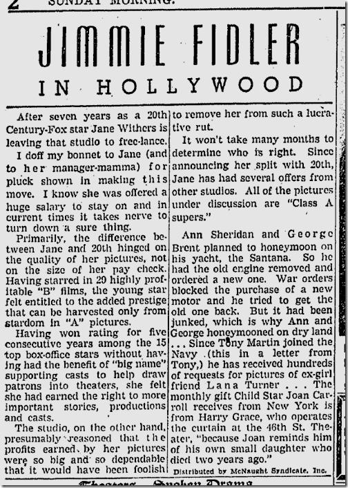 Feb. 1, 1942, Jimmie Fidler