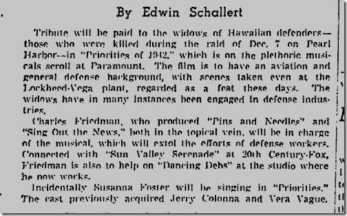 FReb. 14, 1942, Priorities of 1942.