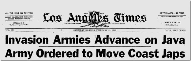 Feb. 21, 1942, Japanese Evacuation