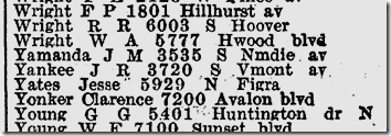 1942 City Directory