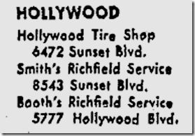 April 14, 1949, Booth's Richfield Service